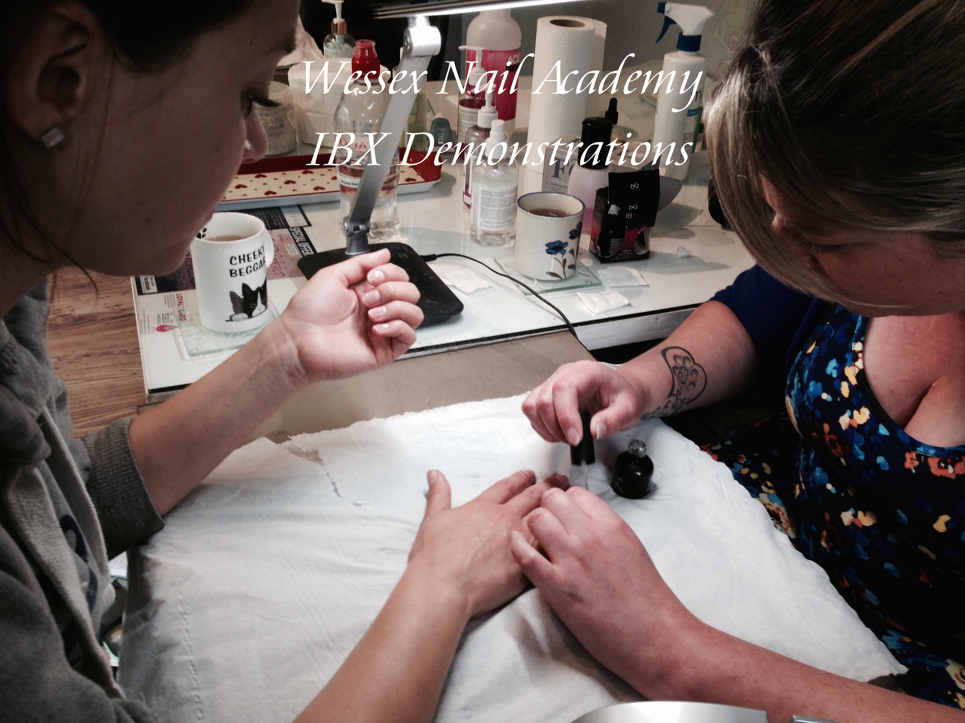 Beginners IBX Demonstrations, Nail extension training , nail training course, Wessex Nail Academy Okeford Fitzpaine, Dorset