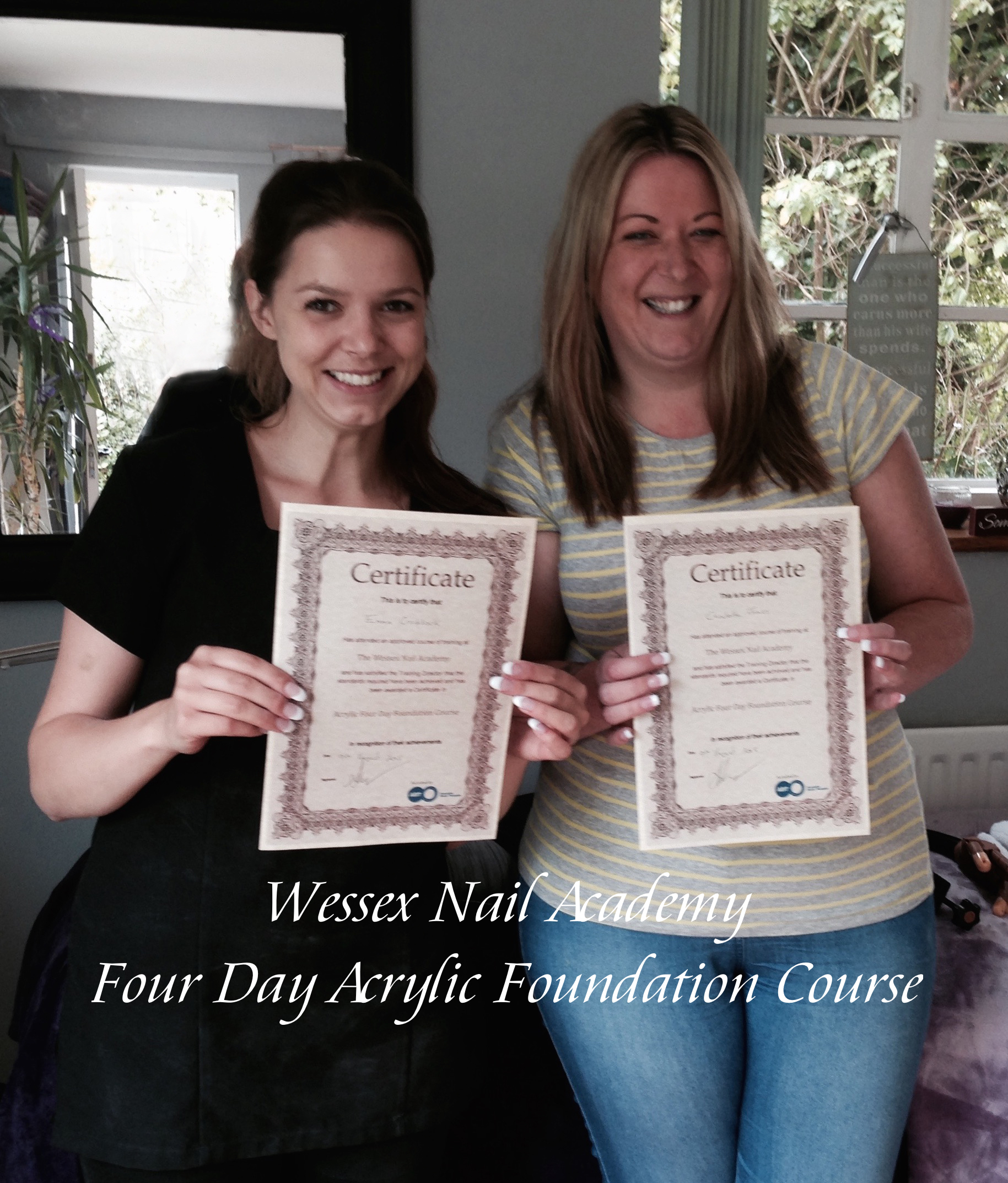 4 Day Acrylic Foundation Course, Nail extension training, nail training course, Wessex Nail Academy Okeford Fitzpaine, Dorset