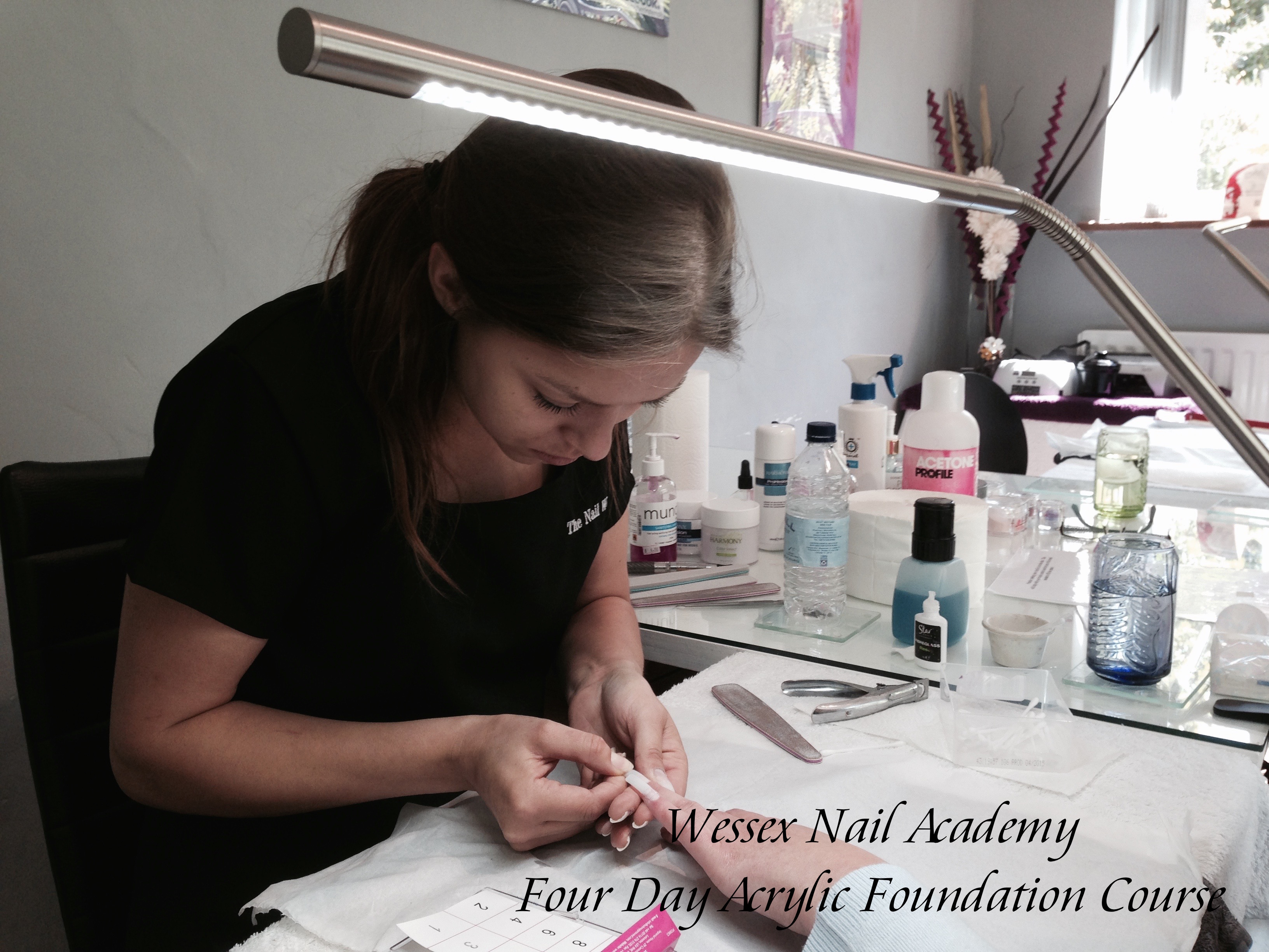 Four Day Acrylic Foundation Course,Nail extension training, nail training course, Wessex Nail Academy Okeford Fitzpaine, Dorset