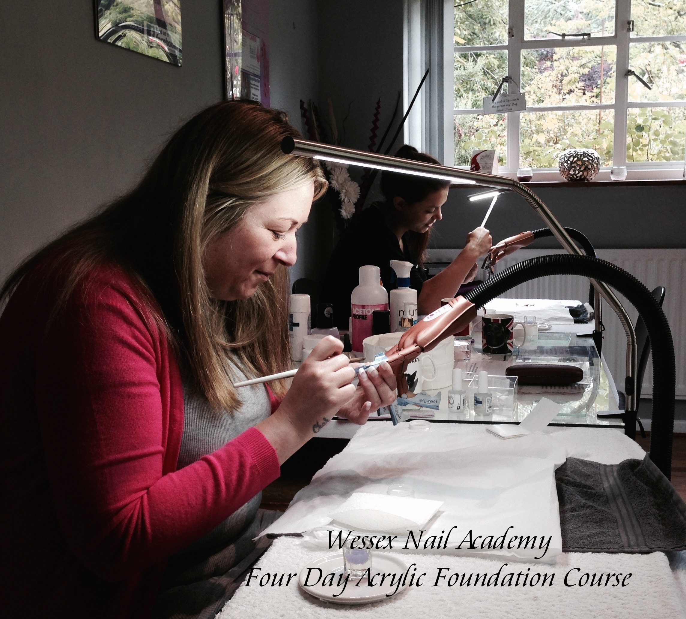 Four Day Acrylic Foundation Courses, Nail extension training, nail training course, Wessex Nail Academy Okeford Fitzpaine, Dorset