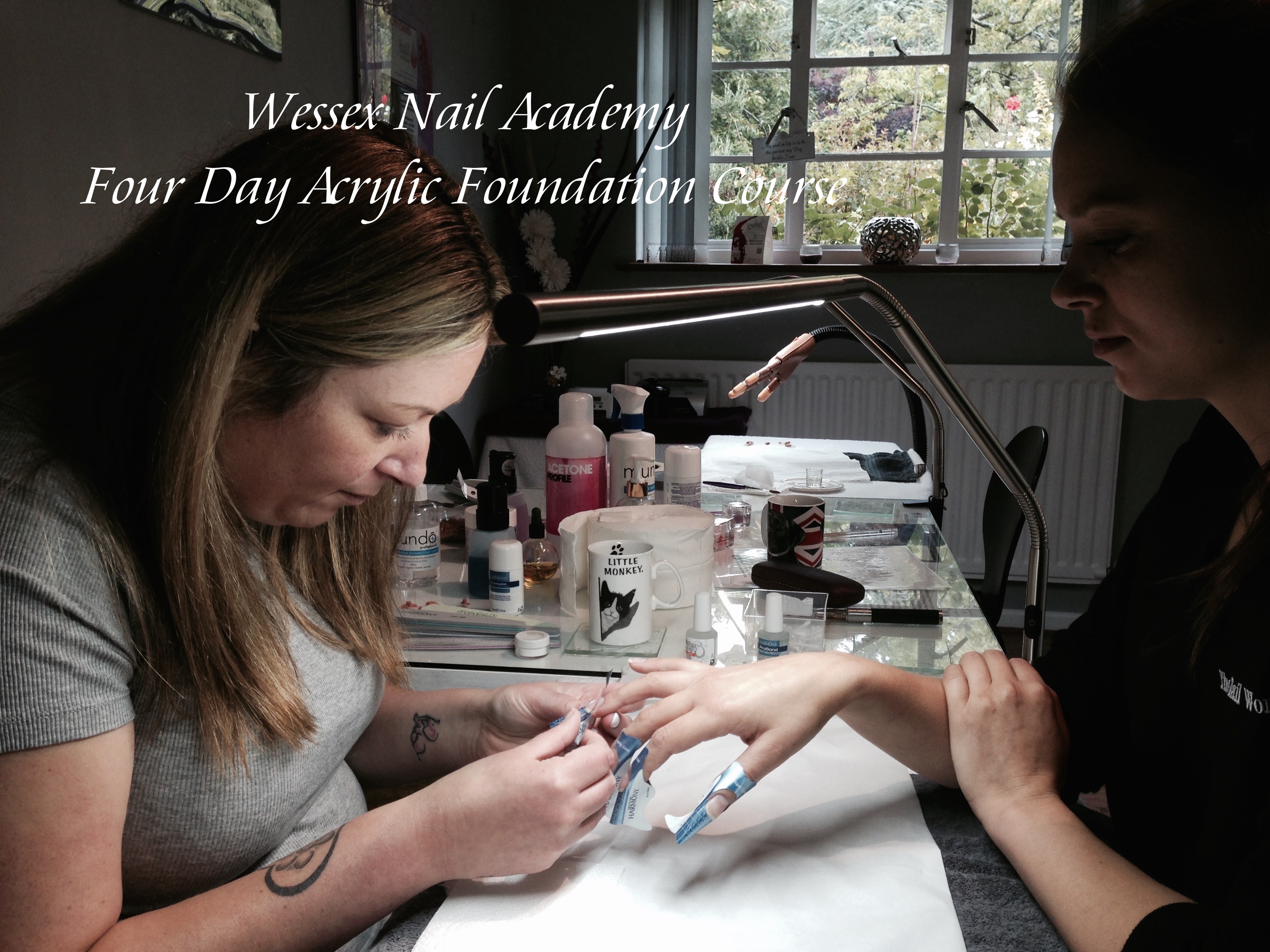 Acrylic Nail Training courses, Nail extension training , nail training course, Wessex Nail Academy Okeford Fitzpaine, Dorset