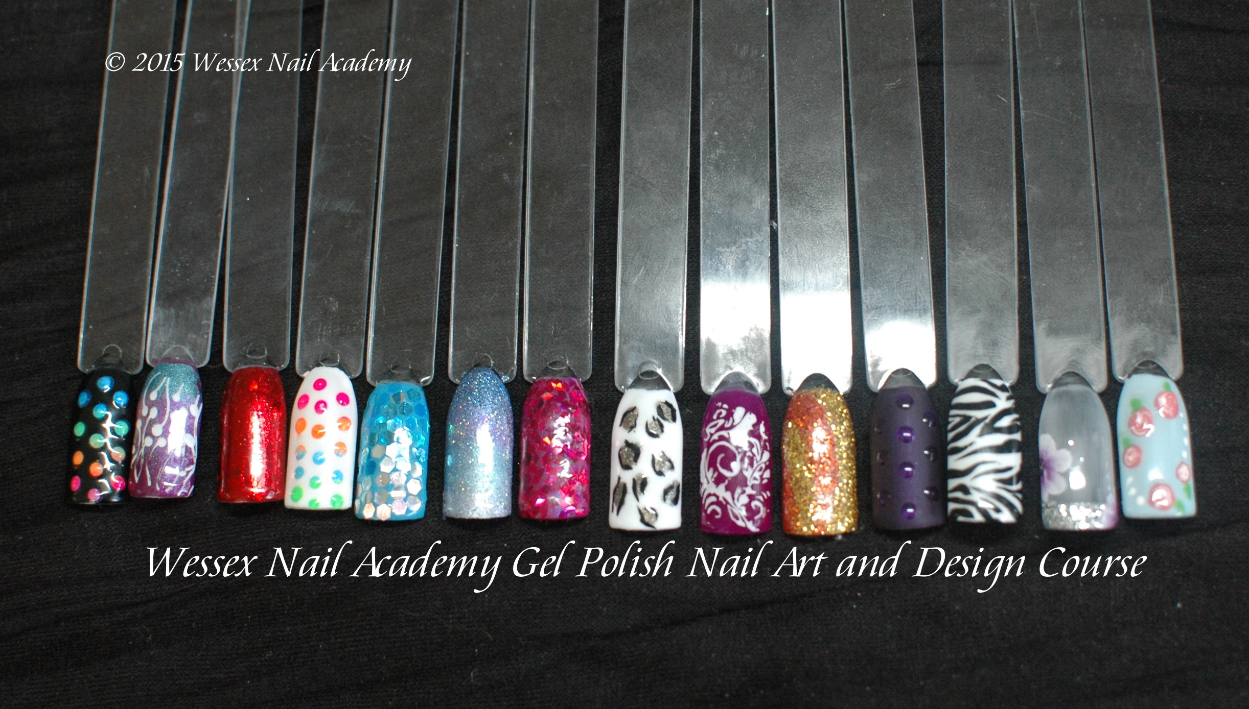 Nail Art Course Students Work, Nail extension training, nail training course, Wessex Nail Academy Okeford Fitzpaine, Dorset
