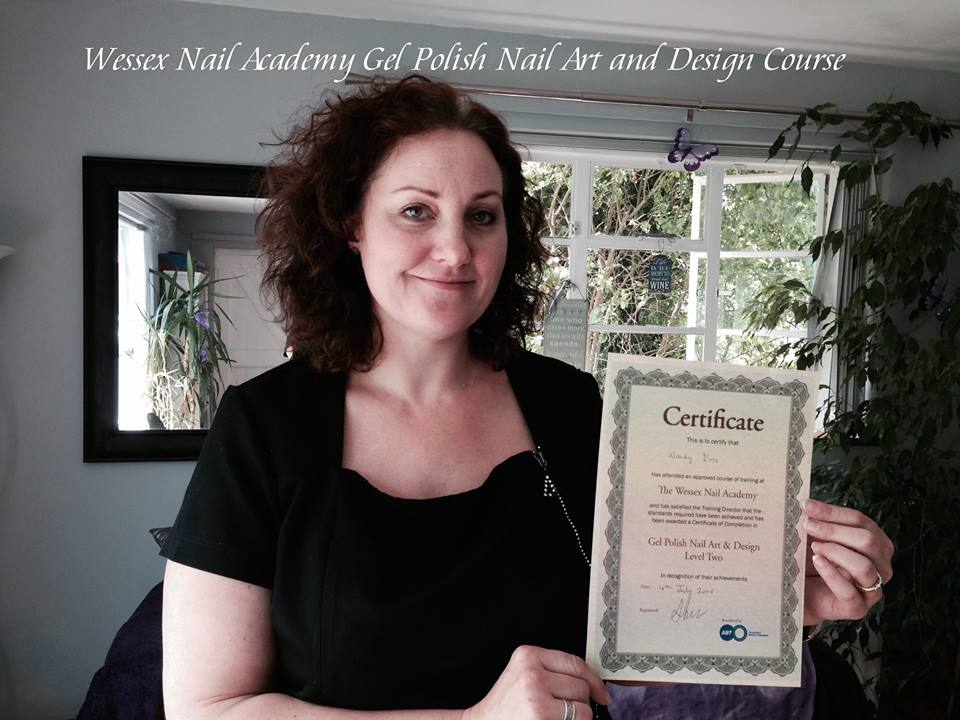 Nail Technicians Training Course Students and Their Certificates, Nail extension training , nail training course, Okeford Fitzpaine, Dorset