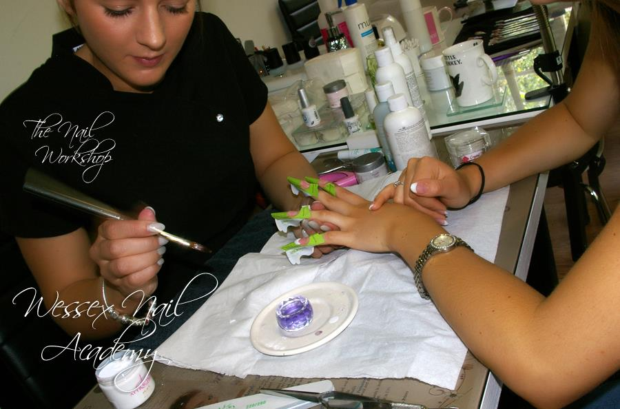 Colour swatches at Wessex Nail Acaemy, Okeford Fitzpaine, Dorset