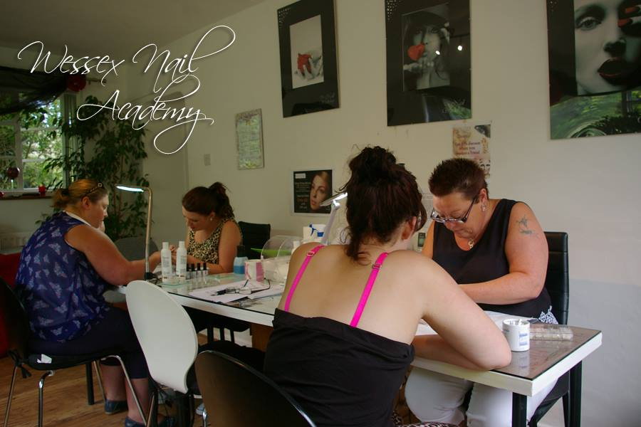 Colour swatches at Wessex Nail Academy, Okeford Fitzpaine, Dorset